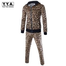 2020 Euro Fashion Mannen Leopard Hoody Sweatshirts Trainingsbroek Trainingspak Sets Joggers Casual Fitness Kleding Pak Ensemble Homme(China)