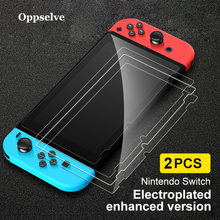 Oppselve 2pc 9H Tempered Glass Screen Protector For Nintendo Switch Protective Film Cover Nintend NS Accessories 2019