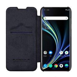 Image 1 - Pour OnePlus 8 étui de téléphone portable NILLKIN PU étui de téléphone à rabat pour OnePlus 8 Pro housse de protection portefeuille de luxe étui en cuir