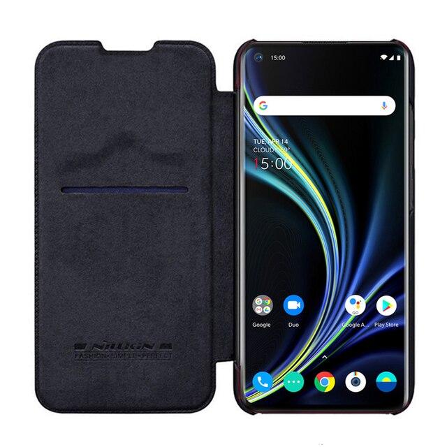 Pour OnePlus 8 étui de téléphone portable NILLKIN PU étui de téléphone à rabat pour OnePlus 8 Pro housse de protection portefeuille de luxe étui en cuir