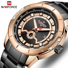 2019 New NAVIFORCE Top Brand Men Watches Men's Full Steel Waterproof Casual Quartz Date Clock Male Wrist watch relogio masculino watches men naviforce brand men sport watch full steel waterproof quartz watches male military luminous clock relogio masculino
