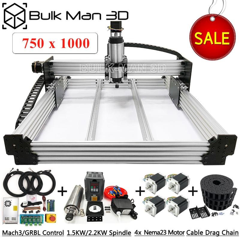 7510 WorkBee CNC Router Machine Full Kit A Complete CNC Machine Setup USB Port 4Axis Wood Stone CNC Milling Carving Machine Kit