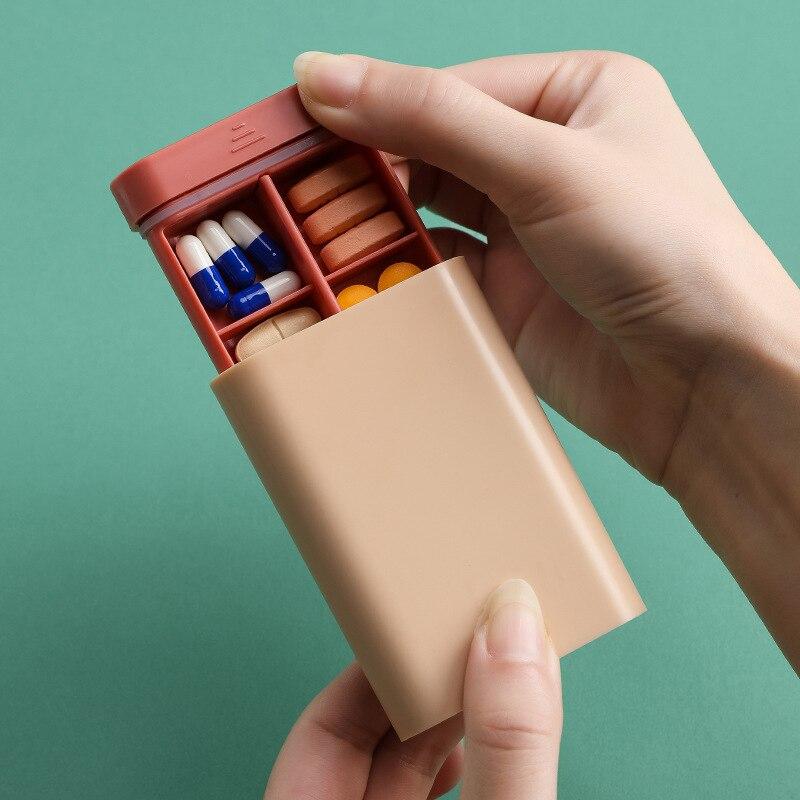 6 слотов влагостойкая коробка для таблеток портативные футляры для таблеток дорожный контейнер для хранения разноцветных дозаторов для лекарственных средств упаковочный контейнер|Таблетницы и разделители|   | АлиЭкспресс