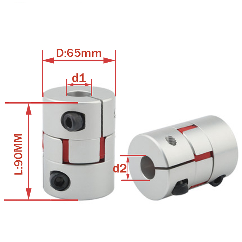 Plum coupling star engraving machine servo motor coupler D65 L90 inner hole 15/16/18/19/20/22/24/25/28/30/32/35/38mm D65L90|Shaft Couplings| |  - title=