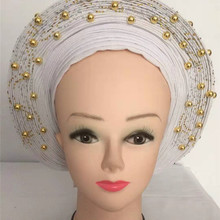 African Ladies Headtie Women Headwear Headwrap Nigerian Head wrap Banadana Headscarf for Wedding and Party
