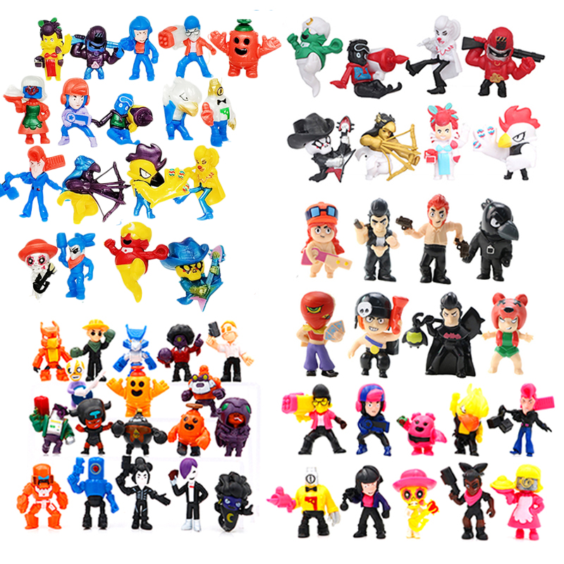 New Game Brawl Figure Toys Cartoon Figure Star Hero Shelly Colt Nita Bull Jessie Brock Dynamike Bo El Collection Gift Model Toy image