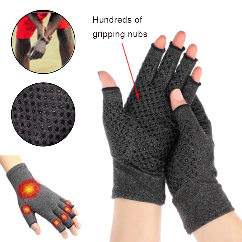 S/M/L Women Men Non-slip Nursing Gloves Outdoor Fitness Half Finger Gloves Anti-arthritis Rheumatism Hand Pain Pressure Gloves