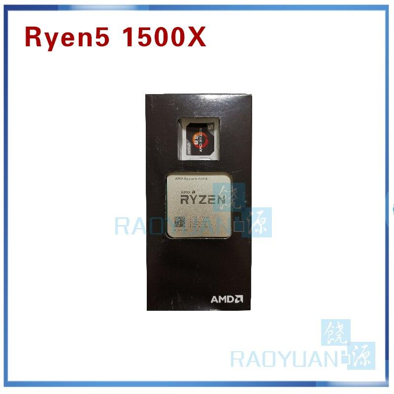 AMD Ryzen 5 1500X R5 1500X 3.5 GHz Quad-Core CPU Processor L3=16M 65W YD150XBBM4GAE Socket AM4