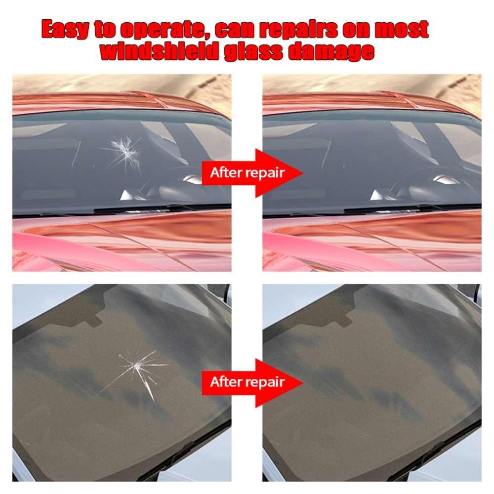 تصفيف السيارة سيارة زجاج مجروش طقم تصليح طقم تصليح الزجاج الأمامي نافذة السيارة متصدع استعادة أدوات نافذة السيارة شاشة تلميع