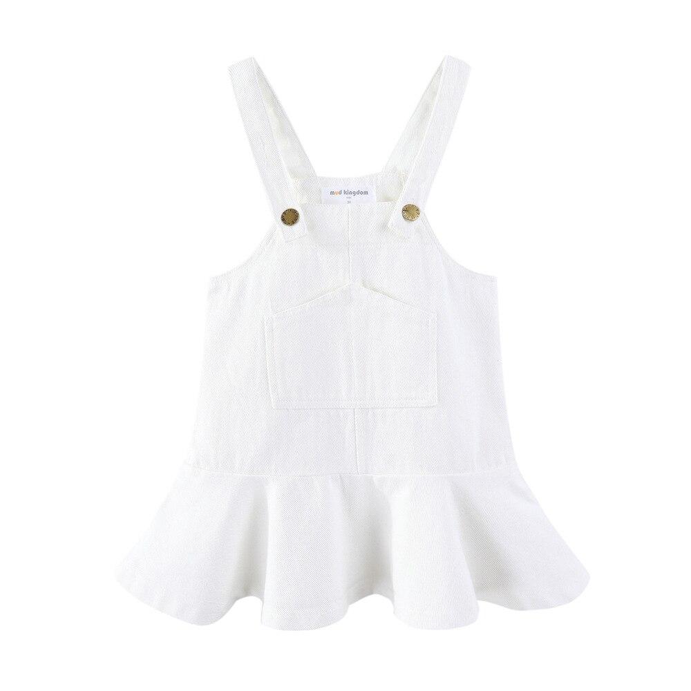 Mudkingdom Toddler Girl Dresses Denim Overalls Girl Skirtall Jumper Plain Pinafore Mini Dress Toddler Girl Spring Clothes 2