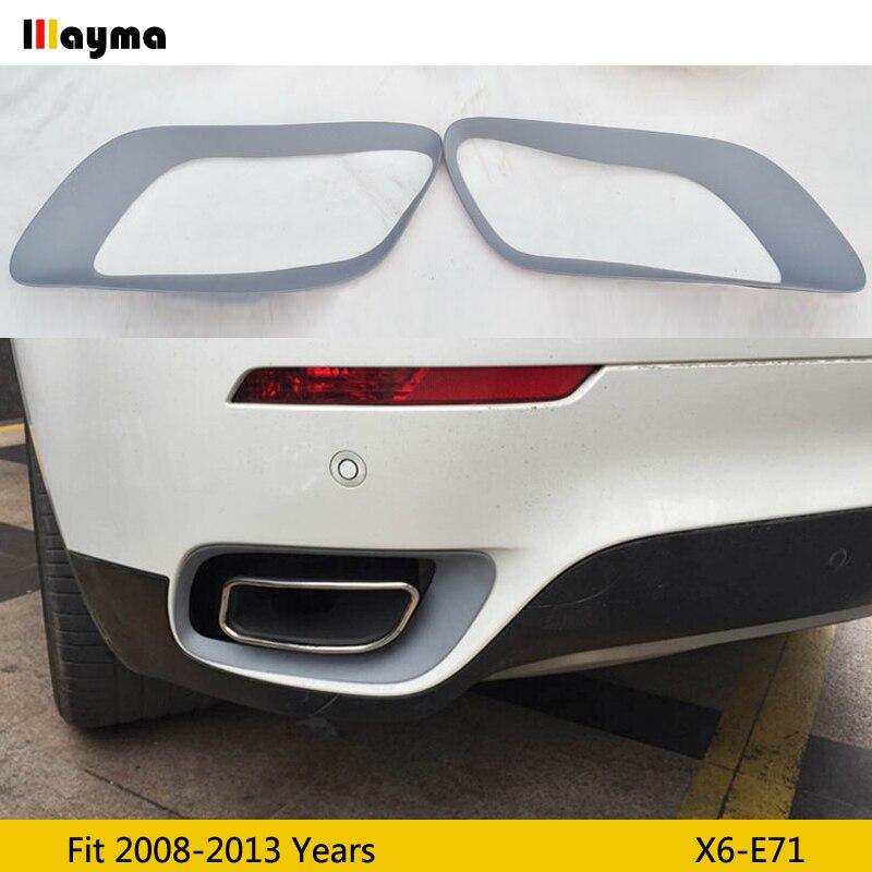 PP tłumik do rury ozdobna ramka do BMW X6 35i xDrive 2008-2013 rok E71 ogon PP płaszcz podstawowy tłumik rama 1 para