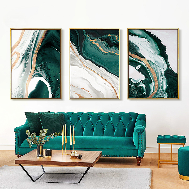 Abstract Modern Green Canvas seaview Art Paintings For Bedroom Living Room restaurant Posters And Prints Wall Poster Home Decor
