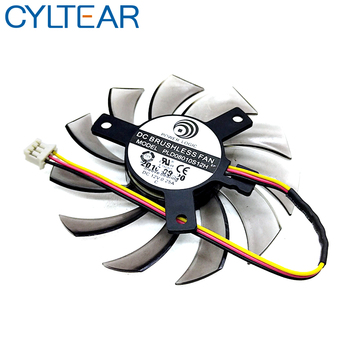 New 75MM PLD08010S12H Cooler Fan For Gigabyte HD 6850 7970 GTX 460 GTX560Ti R270X AMD R7 260x Graphics Video Card Cooling Fans image