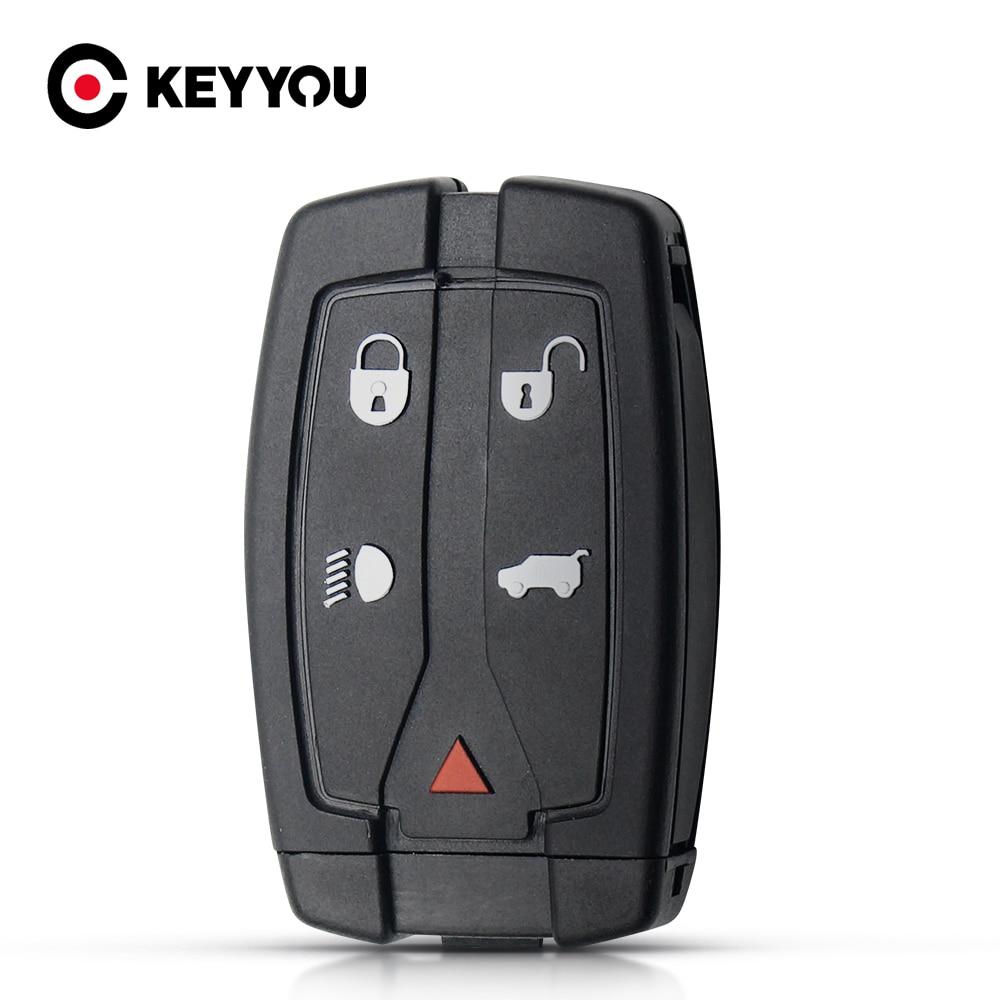 KEYYOU 5 кнопок для Land Rover Freelander 2 Discovery Remote Smart Key сменный Корпус Ключа необработанный чехол с лезвием автомобильные аксессуары