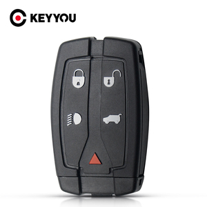 KEYYOU 5 Buttons For Land Rover Freelander 2 Discovery Remote Smart Key Replacement Key Shell Uncut Blade Case Car Accessories