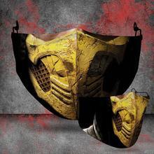 Masks Scorpion Kombat Mortal Ninja Mouth-Mask-Covers Game Face Print Funny Cosplay Washable