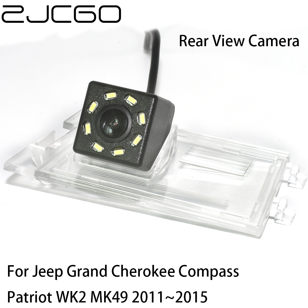 ZJCGO CCD Car Rear View Reverse Back Up Parking Night Vision Camera For Jeep Grand Cherokee Compass Patriot WK2 MK49 2011~2015