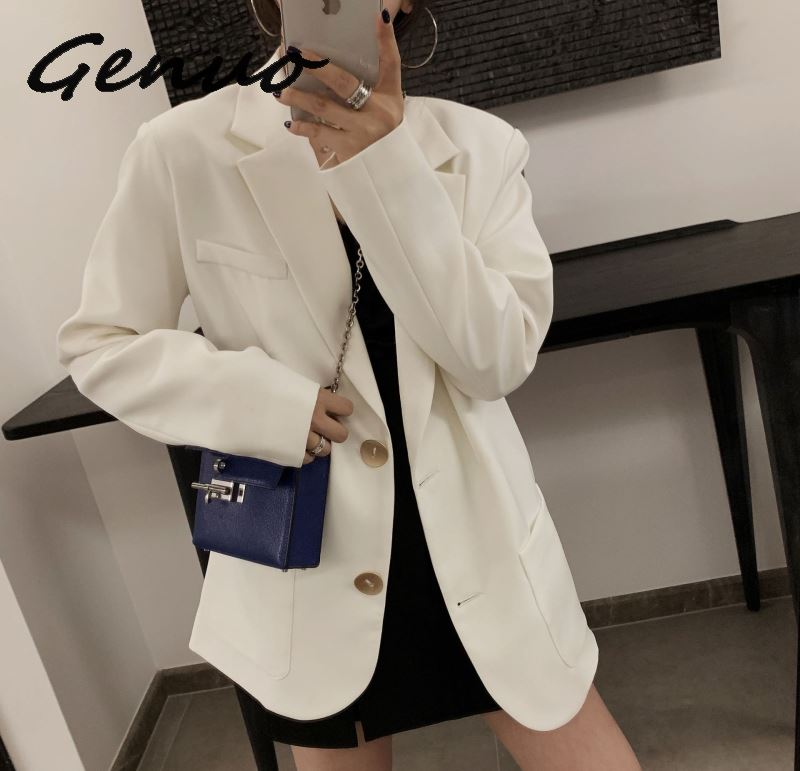 Women Blazers And Jackets New Women's Fashion Temperament Casual White Suit Jacket Loose Single-breasted Women's Jacket Shirt
