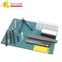 Suriwsh-Conjunto de 7 herramientas básicas para modelismo, conjunto de herramientas de construcción, gran oferta