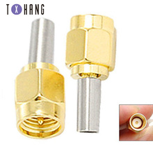 цена на 5PCS RP SMA Male Plug RF Coax Connector Crimp for RG174 RG316 cable Straight Goldplated RFSMA Male Adapter