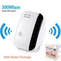 Repetidor WiFi inalámbrico amplificador de señal 802.11N/B/G extensor de rango Wi-fi 300Mbps potenciadores de señal Repetidor Wifi cifrado Wps