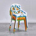 Скандинавские креативные PP пластиковые полые стулья обеденные стулья для обеденных комнат  ресторанов  мебели  кафе  встречи  спальни  обед...