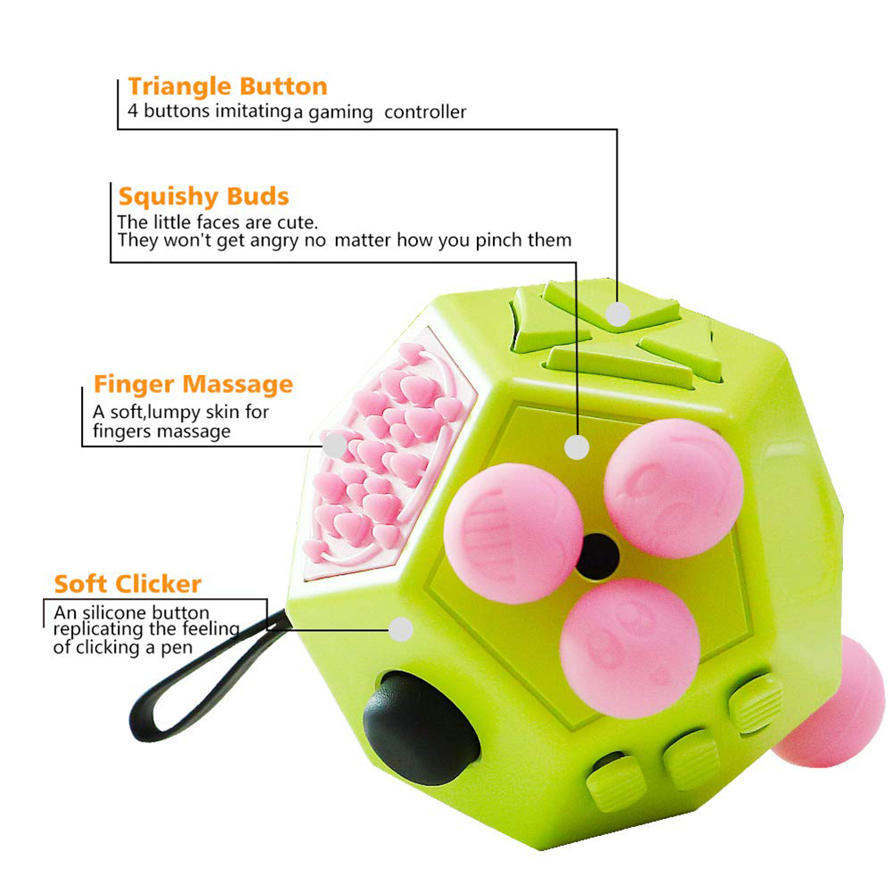 Toy Decompression Anti-Stress 12-Sided Cube Anxiety Dice Relieve Fun Adults Children img5