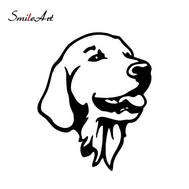 $ 0.99 Colorful Dog Golden Retriever Car Stickers Voiture And Decals Motorcycle Car Styling Accessories