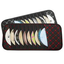 DVD Storage Case Car Sun Visor CD Disc Holder CD DVD Storage Pouch Bag Vehicle Organizer Auto Interior Accessories