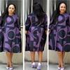 Plus-Size Dress Women Midi Winter O-Neck Polka Dot Print Long Section Ladies Office Gown Big Dresses 3