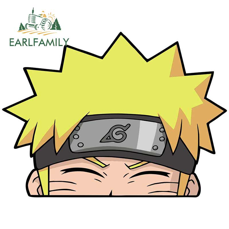 EARLFAMILY 13cm X 9.6cm For Naruto Smiling Peeker Car Sticker Bumper Decoration Motorcycle Car Assessoires VAN Decoration Decal
