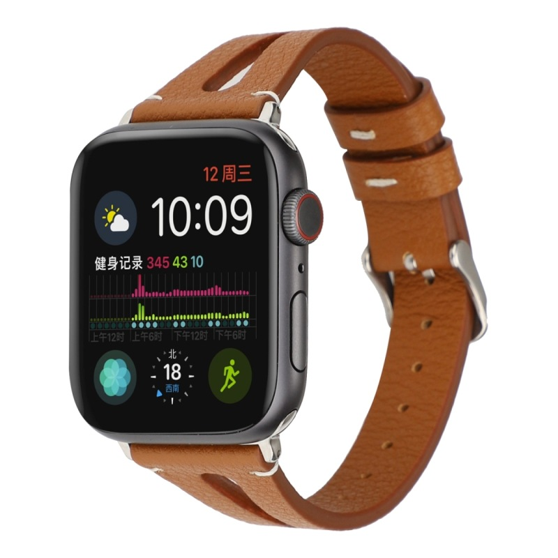 Suitable For Simple V-Shaped Leather Watch Strap Suitable For Apple Watch APPLE Watch Series 4-4
