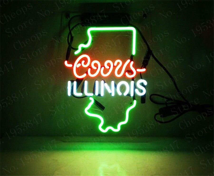 Coors luz botella de vidrio de Neon de regalo de Texas, tubo de vidrio Real, barra de cerveza, Pub, sala de estar, decoración de fiesta, 14x9