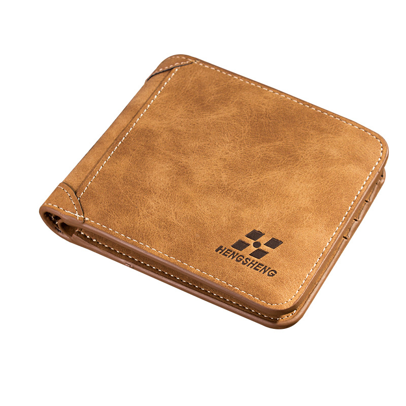 2020 Men Wallet Leather ID Credit Card Holder Clutch Coin Purse Luxury Brand Wallet Frosted Short Wallets Men Wallet Coin Pocket