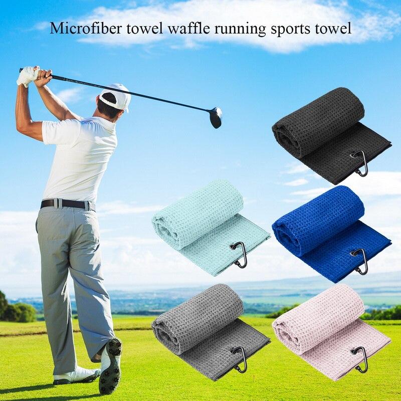 Полотенце для гольфа вафельный узор хлопок с карабином чистящее полотенце s крючок из микрофибры чистящее мячи для рук