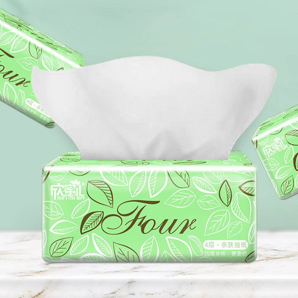 Toilet Paper Multifold Paper Towels With Fast-Drying Absorbency Pockets White 300Sheets/ Pack Draw Paper