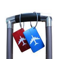 Aluminium Bagage Tags Bagage Naamplaatje Koffer Adres Label Houder Reizen Accessoires Label Naam Adres Id Bagagelabel-in Reis Accessoires van Bagage & Tassen op