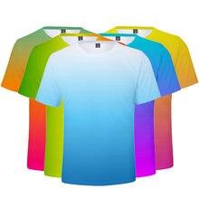 Лидер продаж красочные градиентные футболки для мужчин женщин