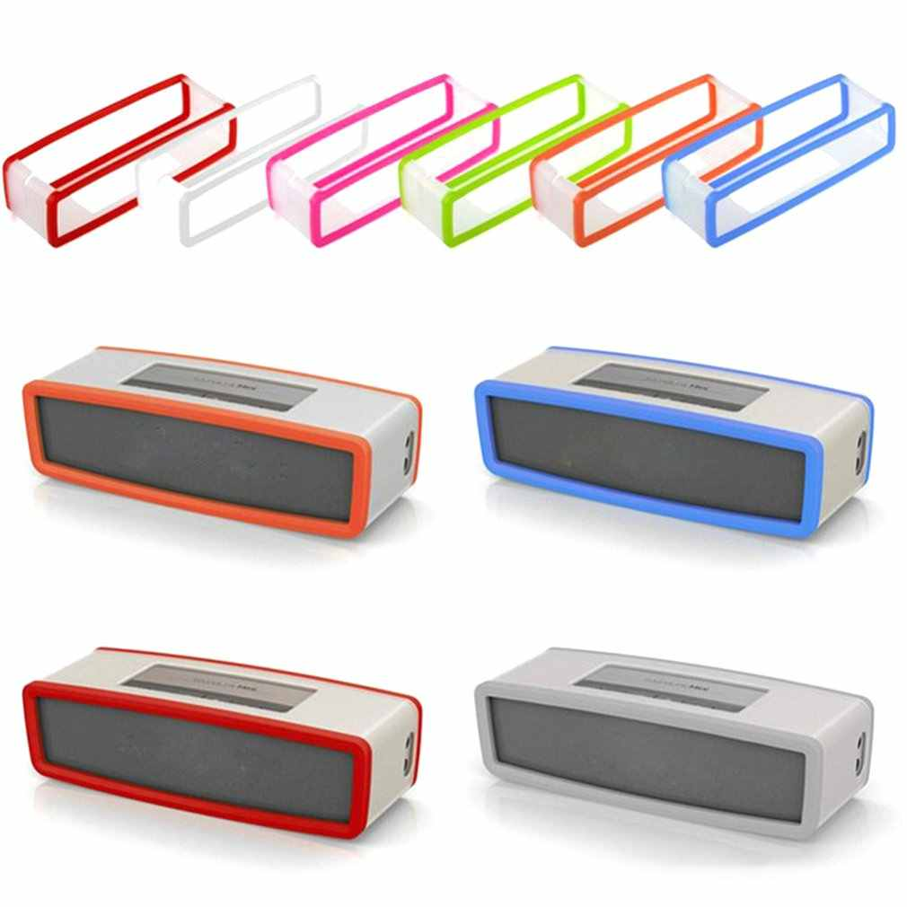 Portable Silikon Case untuk BOSE Soundlink Mini 1 2 Suara Link I II Bluetooth Speaker Protector Cover Kulit Box Speaker tas Kantong