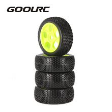 4pcs High Quality 112mm Rubber Tires 17mm Hub Hex Wheel Rim for 1/8 RC Crawler Buggy Off Road Car Truck RC Toys Kid