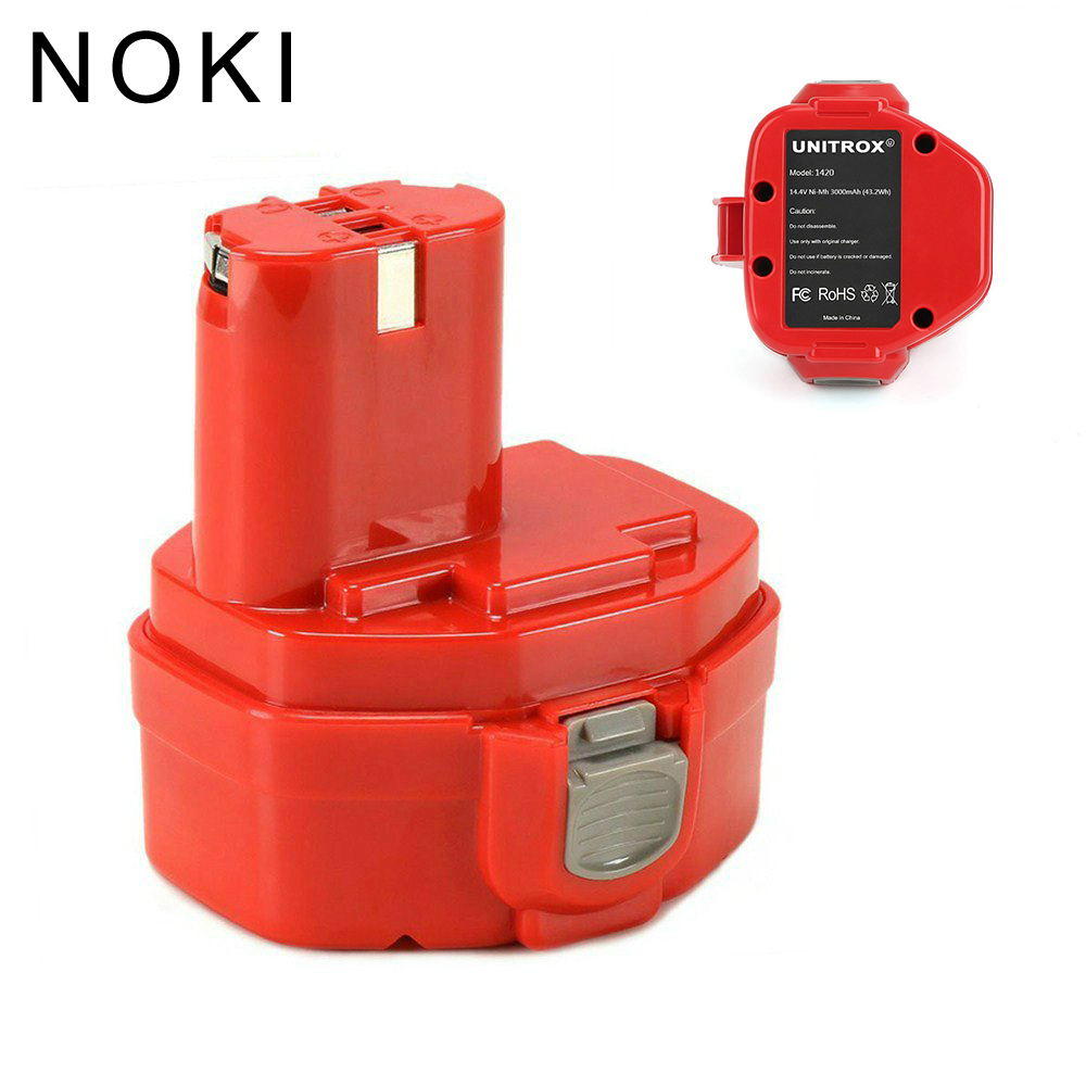 Makita 14.4V 3.0Ah Ni-Mh Replacement Battery For 1420 1422 1433 1434 1435 1435F PA14 192600-1 193158-3 192699-A 6233d