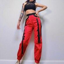 Traje de baile de jazz Chaleco de malla sexy para mujer Pantalones sueltos Hip-Hop