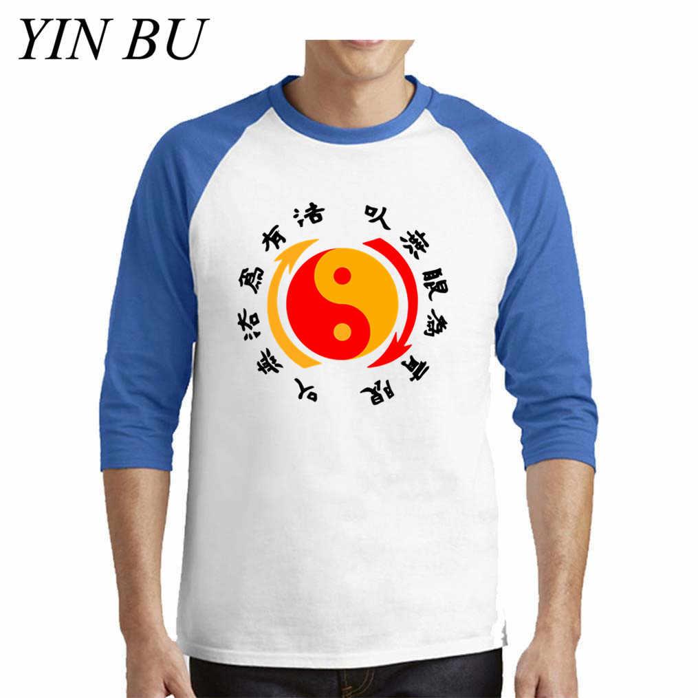 Kungfu Bruce Lee mannen Fitness Party Tshirt Man T Shirt Lange Mouw Tops Tees Zwart Hip Hop Jongens Oversize t-shirt
