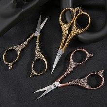 Zakka europejskie szycie Vintage nożyczki Vintage haft Retro nożyce krawieckie nożyczki narzędzie do tkanin robótki nożyce krawieckie