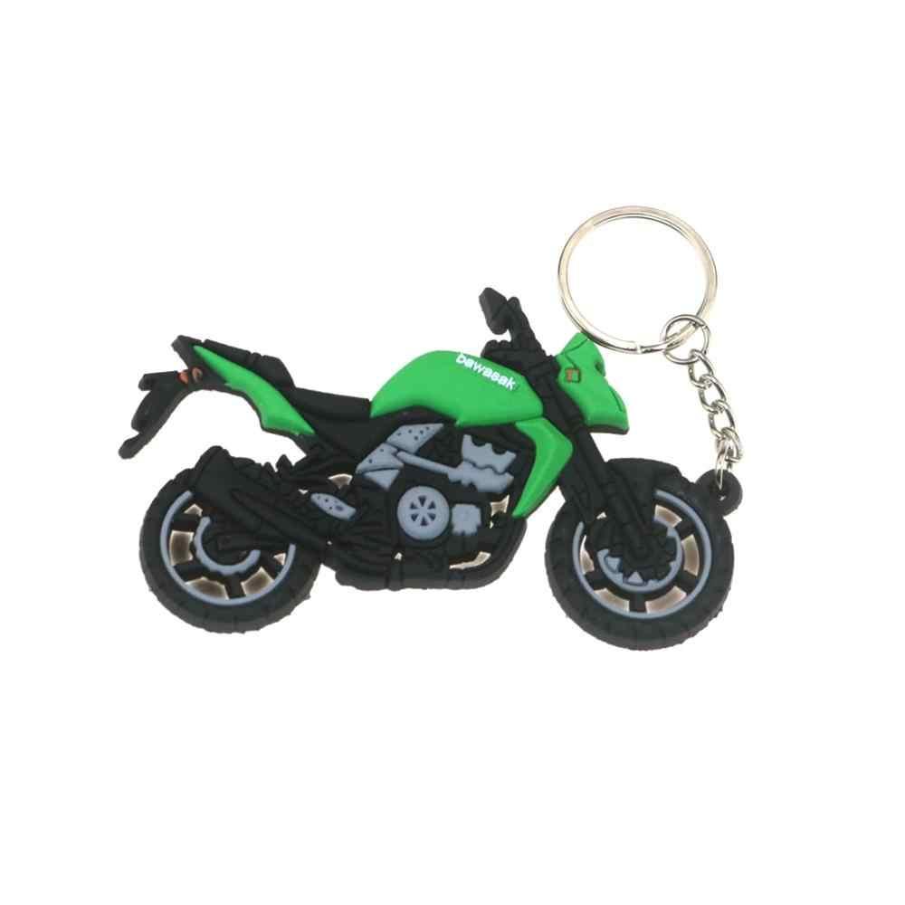 3D Sepeda Motor Aksesoris Motor Gantungan Kunci Karet Motor Gantungan Kunci Z1000 ER6N ZX6R Lokomotif Model