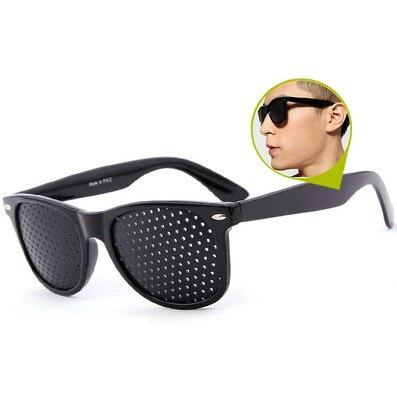 Preto melhoria da visão exercício de cuidados óculos treinamento ciclismo eyewear pino pequeno buraco óculos de sol acampamento 4