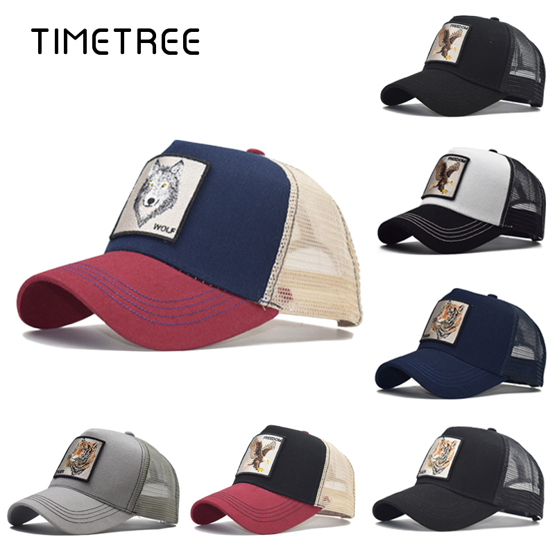 Fashion Animal Embroidery Mesh Baseball Cap Unisex Lovely Baseball Caps Women&Men Snapback Cap Dad Hat Autumn Bone Gorras Caps