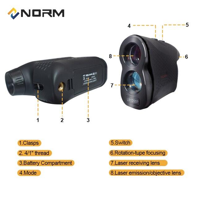 NORM Laser Rangefinder 600M 900M 1200M 1500M Laser Distance Meter for Golf Sport, Hunting, Survey 1