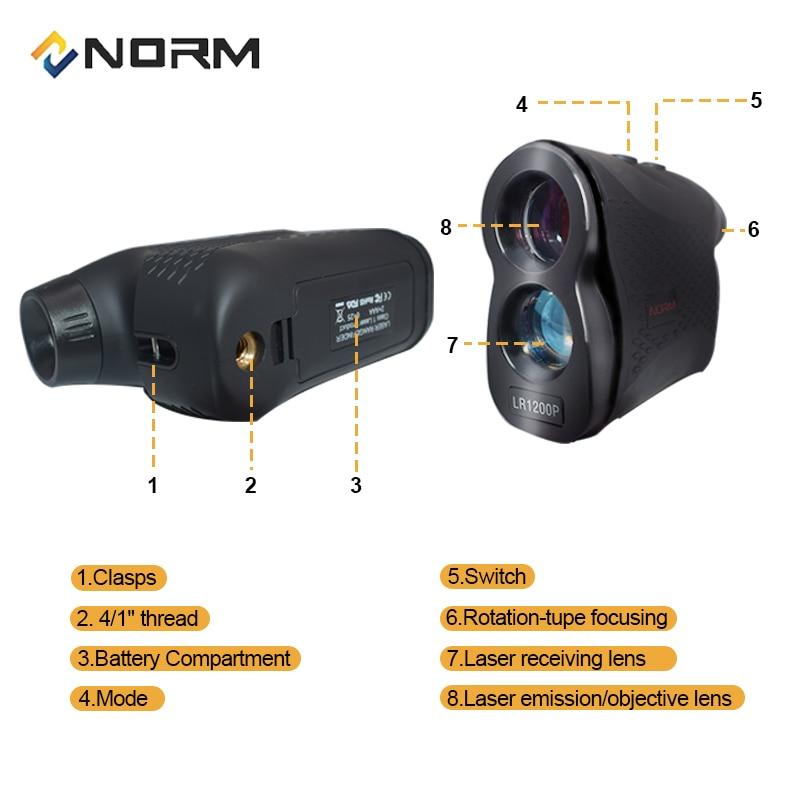 Image 2 - NORM Laser Rangefinder 600M 900M 1200M 1500M Laser Distance Meter for Golf Sport, Hunting, Survey-in Laser Rangefinders from Tools
