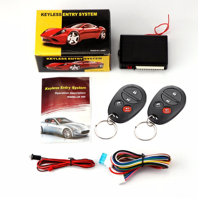 Universal Car Remote Control Central Locking Kit For KIA Auto Car Door Lock Keyless Entry System With Trunk Release 4 Buttons